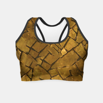 Thumbnail image of Golden Mosaic Texture Pattern Crop Top, Live Heroes