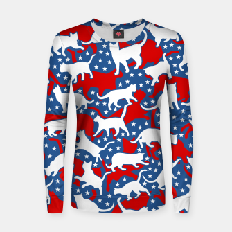 Thumbnail image of United States Of Cats USA Flag Cat Lover Americana Pattern Women sweater, Live Heroes