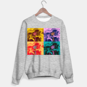 Thumbnail image of Blossoming rose collage, duotone effect Sweater regular, Live Heroes