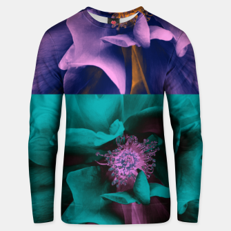 Thumbnail image of Blossoming rose collage, duotone effect Unisex sweater, Live Heroes