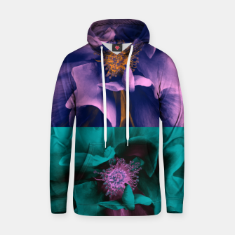 Thumbnail image of Blossoming rose collage, duotone effect Hoodie, Live Heroes
