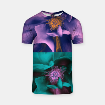 Thumbnail image of Blossoming rose collage, duotone effect T-shirt, Live Heroes