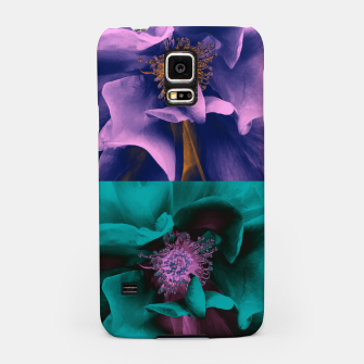 Thumbnail image of Blossoming rose collage, duotone effect Samsung Case, Live Heroes
