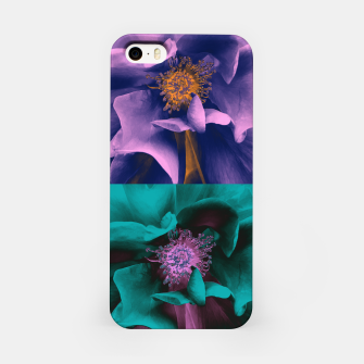 Thumbnail image of Blossoming rose collage, duotone effect iPhone Case, Live Heroes