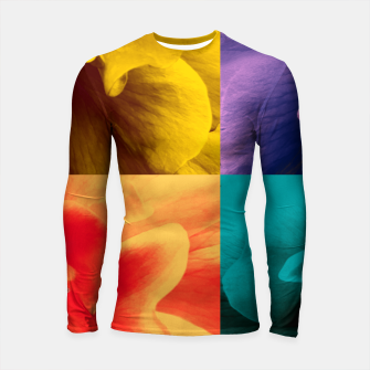 Thumbnail image of Blossoming rose collage, duotone effect Longsleeve rashguard , Live Heroes
