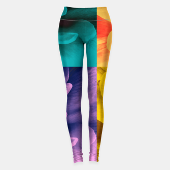 Thumbnail image of Blossoming rose collage, duotone effect Leggings, Live Heroes