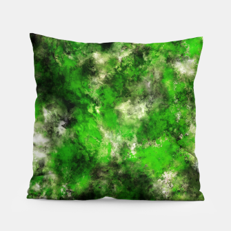 Thumbnail image of Green noise Pillow, Live Heroes