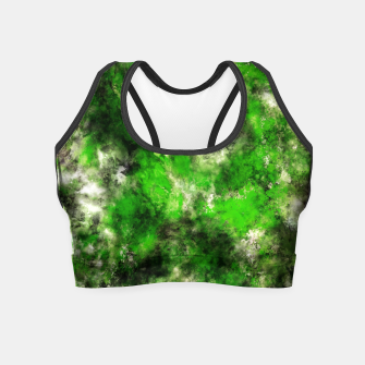 Thumbnail image of Green noise Crop Top, Live Heroes