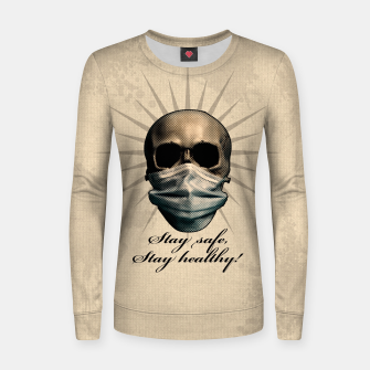 Thumbnail image of Stay safe, Stay healthy! Frauen sweatshirt, Live Heroes