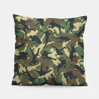 Thumbnail image of American Football Player Camo Woodland Camouflage Pattern Pillow, Live Heroes