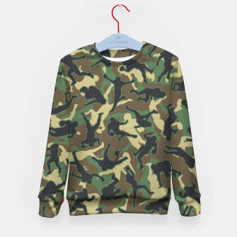 Thumbnail image of American Football Player Camo Woodland Camouflage Pattern Kid's sweater, Live Heroes