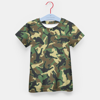 Thumbnail image of American Football Player Camo Woodland Camouflage Pattern Kid's t-shirt, Live Heroes