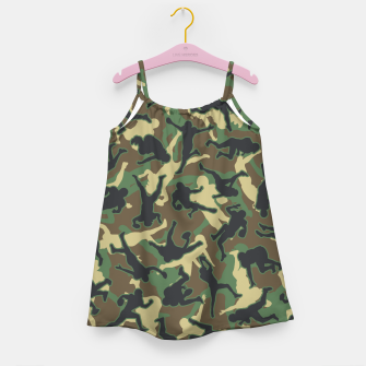 Thumbnail image of American Football Player Camo Woodland Camouflage Pattern Girl's dress, Live Heroes