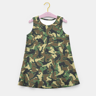 Thumbnail image of American Football Player Camo Woodland Camouflage Pattern Girl's summer dress, Live Heroes