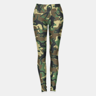 Thumbnail image of American Football Player Camo Woodland Camouflage Pattern Leggings, Live Heroes