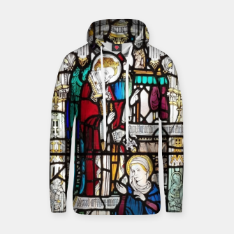 Thumbnail image of Annunciation Church window Kapuzenpullover, Live Heroes