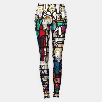 Thumbnail image of Annunciation Church window Leggings, Live Heroes