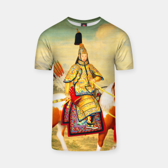 Thumbnail image of The Qianlong Emperor in Ceremonial Armor on Horseback T-shirt, Live Heroes