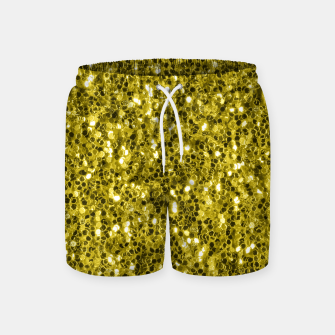 Thumbnail image of Dark illuminating yellow glitter sparkles Swim Shorts, Live Heroes