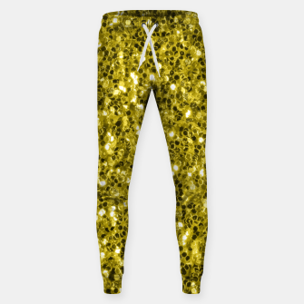 Thumbnail image of Dark illuminating yellow glitter sparkles Sweatpants, Live Heroes