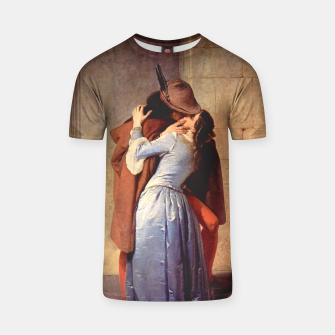 Thumbnail image of The Kiss by Francesco Hayez T-shirt, Live Heroes