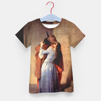 Miniatur The Kiss by Francesco Hayez Kid's t-shirt, Live Heroes