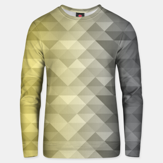 Thumbnail image of Yellow Ultimate Gray Gradient Geometric Triangle Squares Pattern Unisex sweater, Live Heroes
