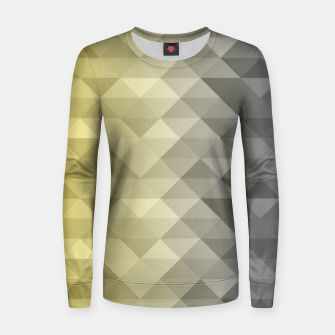 Thumbnail image of Yellow Ultimate Gray Gradient Geometric Triangle Squares Pattern Women sweater, Live Heroes
