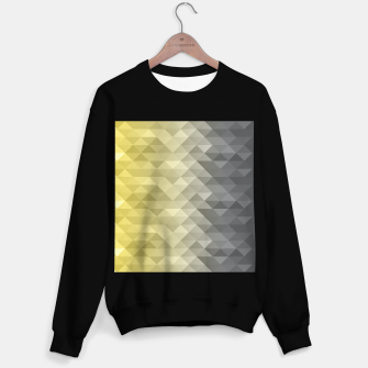 Thumbnail image of Yellow Ultimate Gray Gradient Geometric Triangle Squares Pattern Sweater regular, Live Heroes