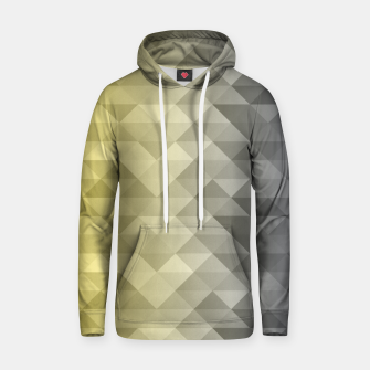 Thumbnail image of Yellow Ultimate Gray Gradient Geometric Triangle Squares Pattern Hoodie, Live Heroes