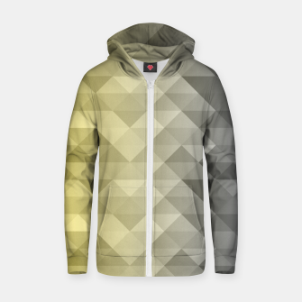 Thumbnail image of Yellow Ultimate Gray Gradient Geometric Triangle Squares Pattern Zip up hoodie, Live Heroes