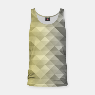 Thumbnail image of Yellow Ultimate Gray Gradient Geometric Triangle Squares Pattern Tank Top, Live Heroes