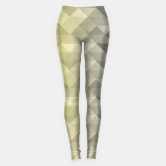 Thumbnail image of Yellow Ultimate Gray Gradient Geometric Triangle Squares Pattern Leggings, Live Heroes