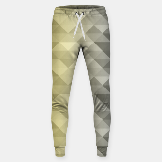 Thumbnail image of Yellow Ultimate Gray Gradient Geometric Triangle Squares Pattern Sweatpants, Live Heroes