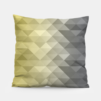 Thumbnail image of Yellow Ultimate Gray Gradient Geometric Triangle Squares Pattern Pillow, Live Heroes