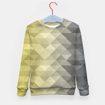 Thumbnail image of Yellow Ultimate Gray Gradient Geometric Triangle Squares Pattern Kid's sweater, Live Heroes