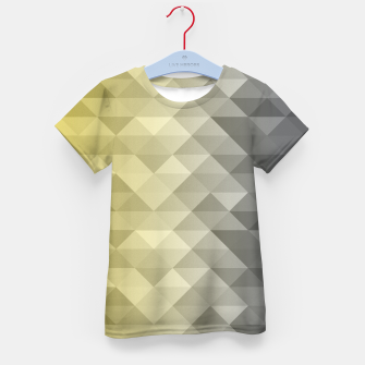 Thumbnail image of Yellow Ultimate Gray Gradient Geometric Triangle Squares Pattern Kid's t-shirt, Live Heroes