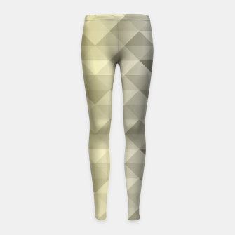Thumbnail image of Yellow Ultimate Gray Gradient Geometric Triangle Squares Pattern Girl's leggings, Live Heroes