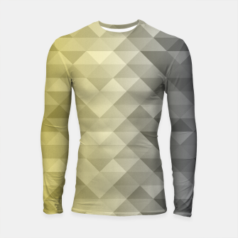 Thumbnail image of Yellow Ultimate Gray Gradient Geometric Triangle Squares Pattern Longsleeve rashguard , Live Heroes