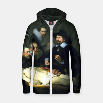 Miniatur The Anatomy Lesson of Dr. Nicolaes Tulp Zip up hoodie, Live Heroes