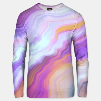 Bright and colorful marbled effect Sudadera unisex miniature