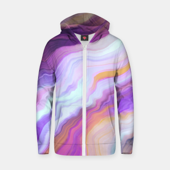 Thumbnail image of Bright and colorful marbled effect Sudadera con capucha y cremallera , Live Heroes
