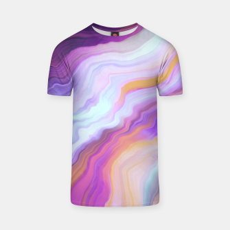 Bright and colorful marbled effect Camiseta miniature