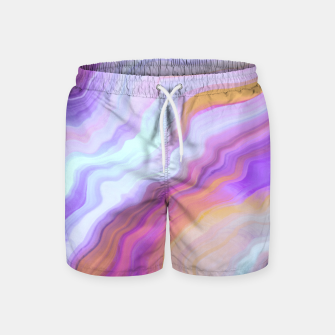 Thumbnail image of Bright and colorful marbled effect Pantalones de baño, Live Heroes