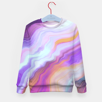 Thumbnail image of Bright and colorful marbled effect Sudadera para niños, Live Heroes