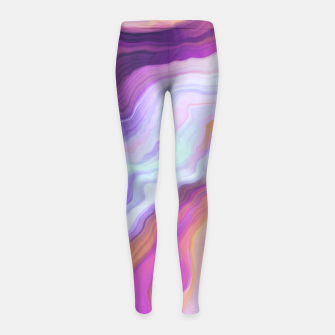 Thumbnail image of Bright and colorful marbled effect Leggings para niña, Live Heroes