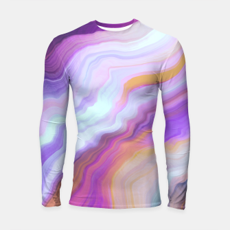 Thumbnail image of Bright and colorful marbled effect Longsleeve rashguard, Live Heroes