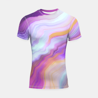 Thumbnail image of Bright and colorful marbled effect Shortsleeve rashguard, Live Heroes