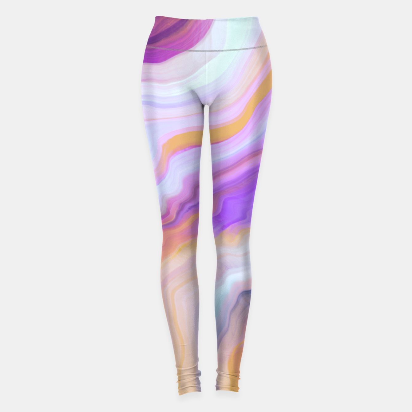 Image de Bright and colorful marbled effect Leggings - Live Heroes