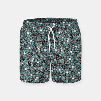 Thumbnail image of Intricate Texture Ornate Camouflage Pattern Swim Shorts, Live Heroes